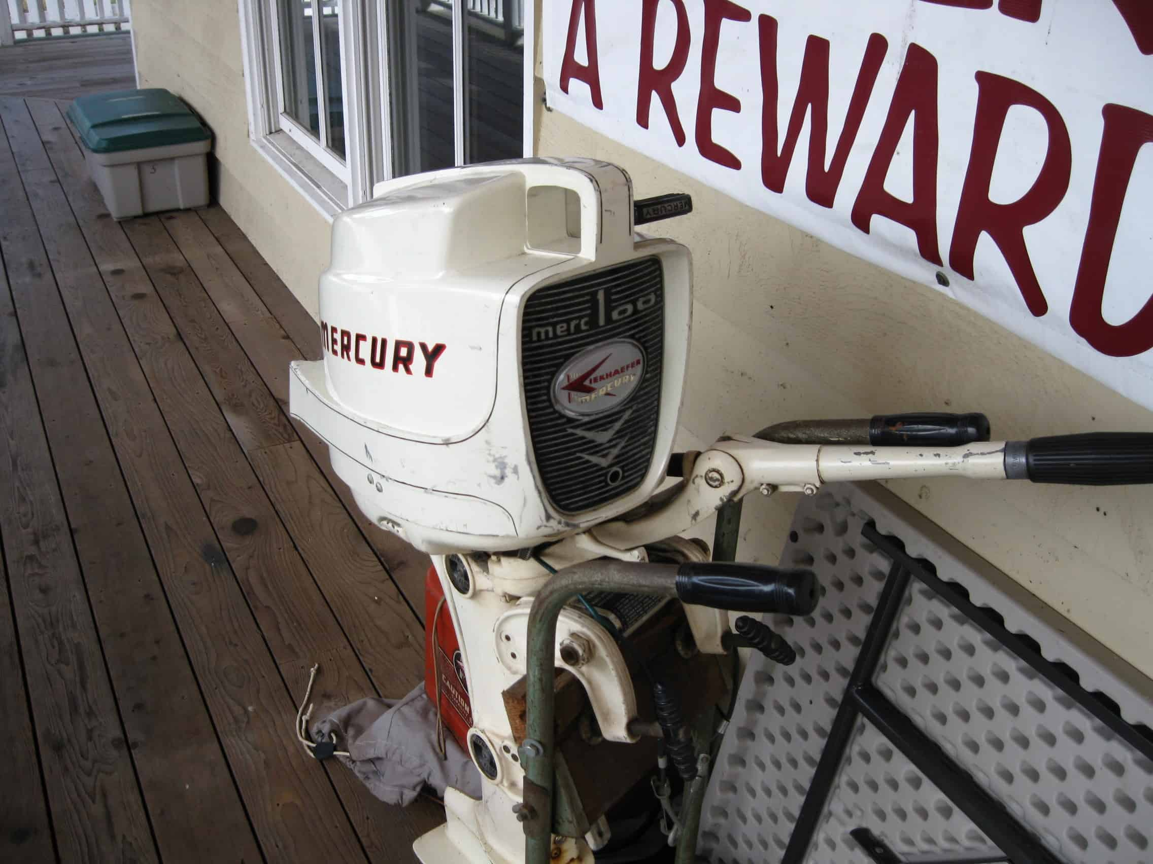 22 HP Mercury Outboard similar to one I owned as a kid