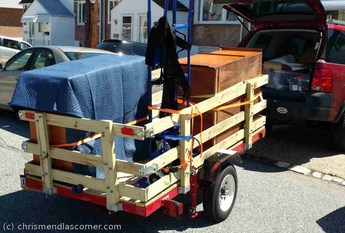 The Harbor Freight Trailer I built fully loaded.