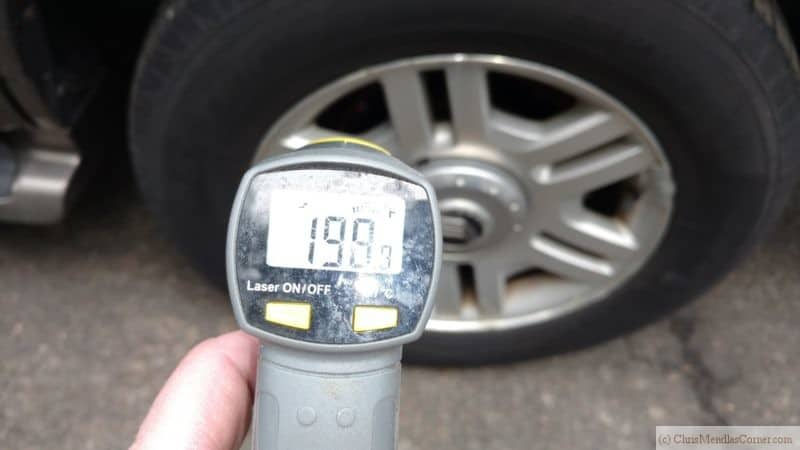 Laser Temperature Left Rear Caliper