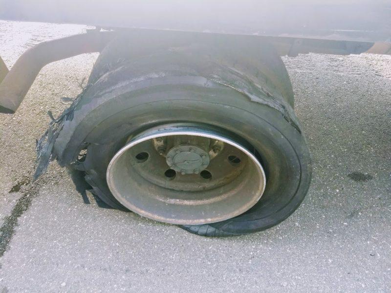 Roadside assistance horror story - Shredded Tire