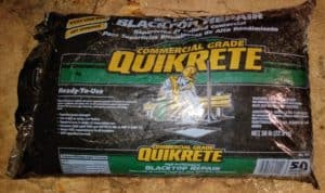 Quikrete driveway cold patch