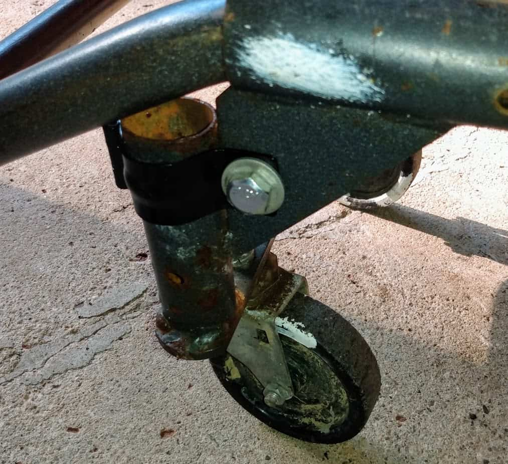 Repairing a broken weld on a hand truck / dolly