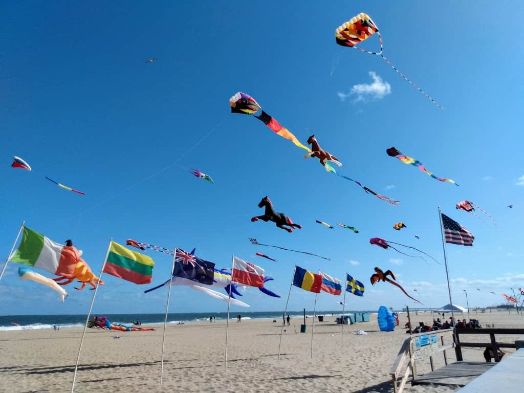 Kites at Ocean City Maryland during the Sunfest 2019 weekend