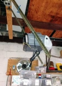 A hack for hanging a garage door opener