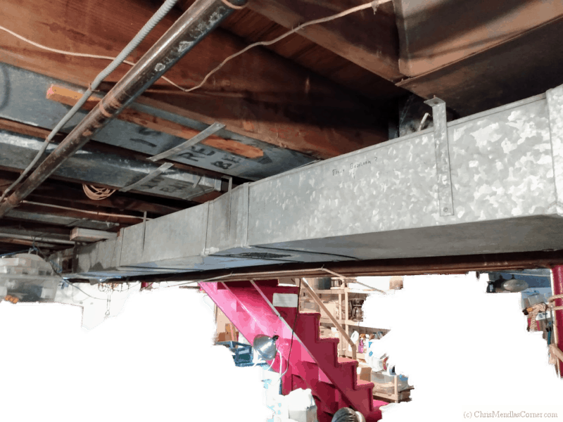 Uninsulated forced air ducts