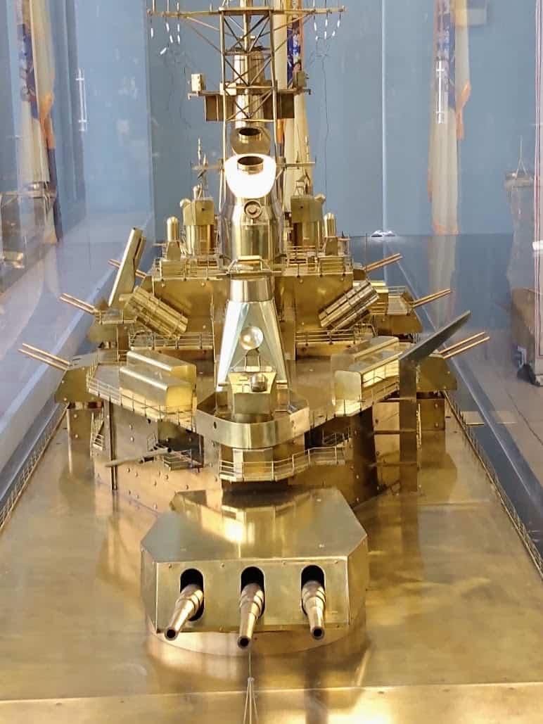 Battleship New Jersey Brass Model Aft