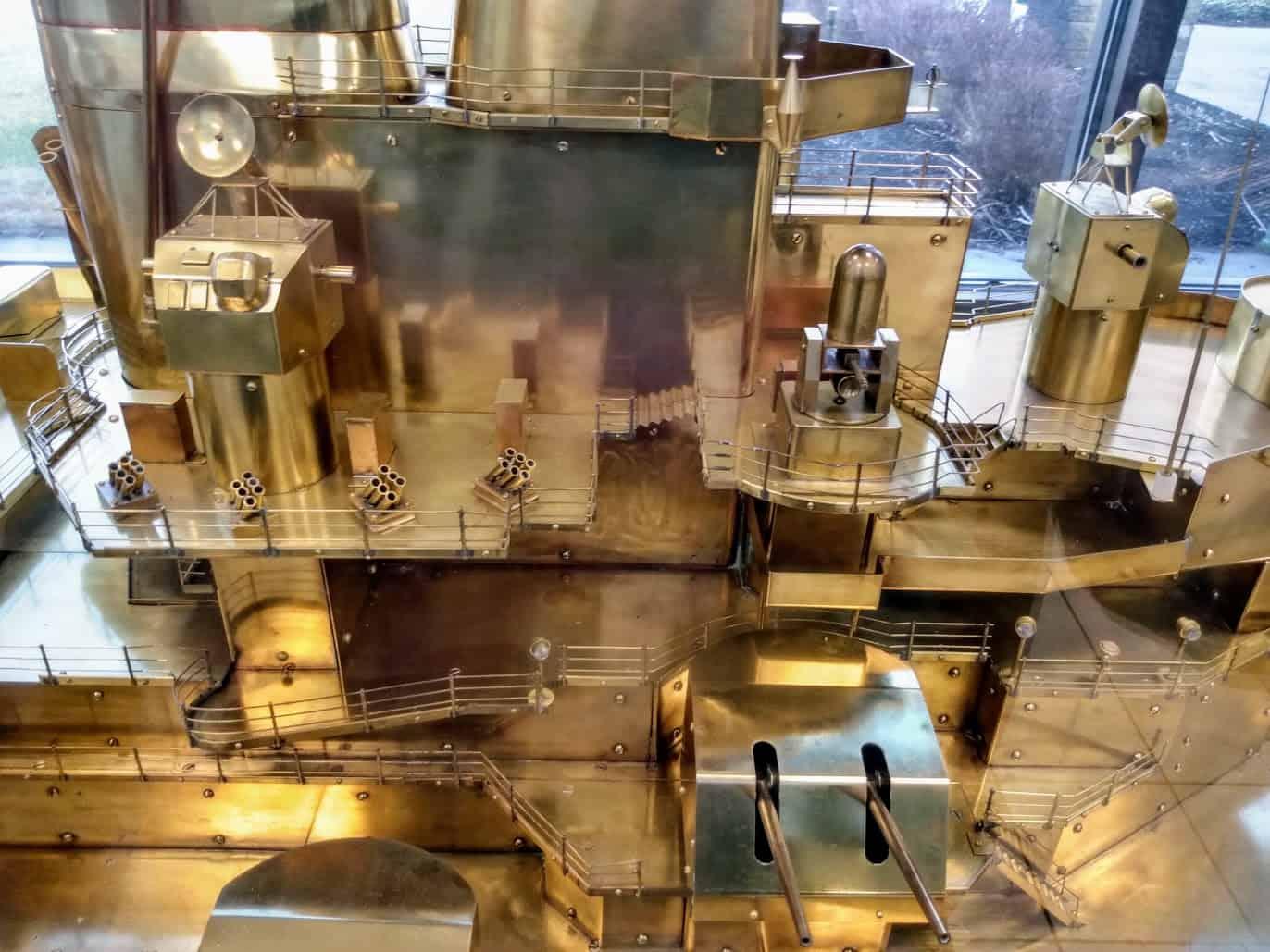 Battleship New Jersey Brass Model Superstructure
