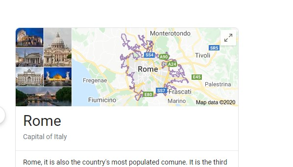 Google search map choice