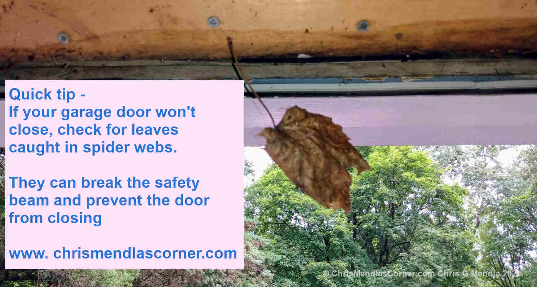 A possible quick fix if your garage door fails to close