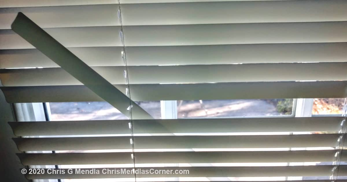 Broken mini blind slat - How to replace