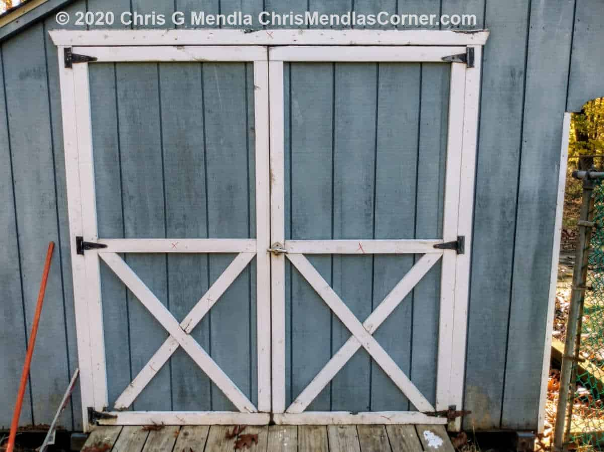Shed doors in need of some repair